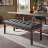 Premium Tufted Reclaimed 52-inch Upholstered Bench