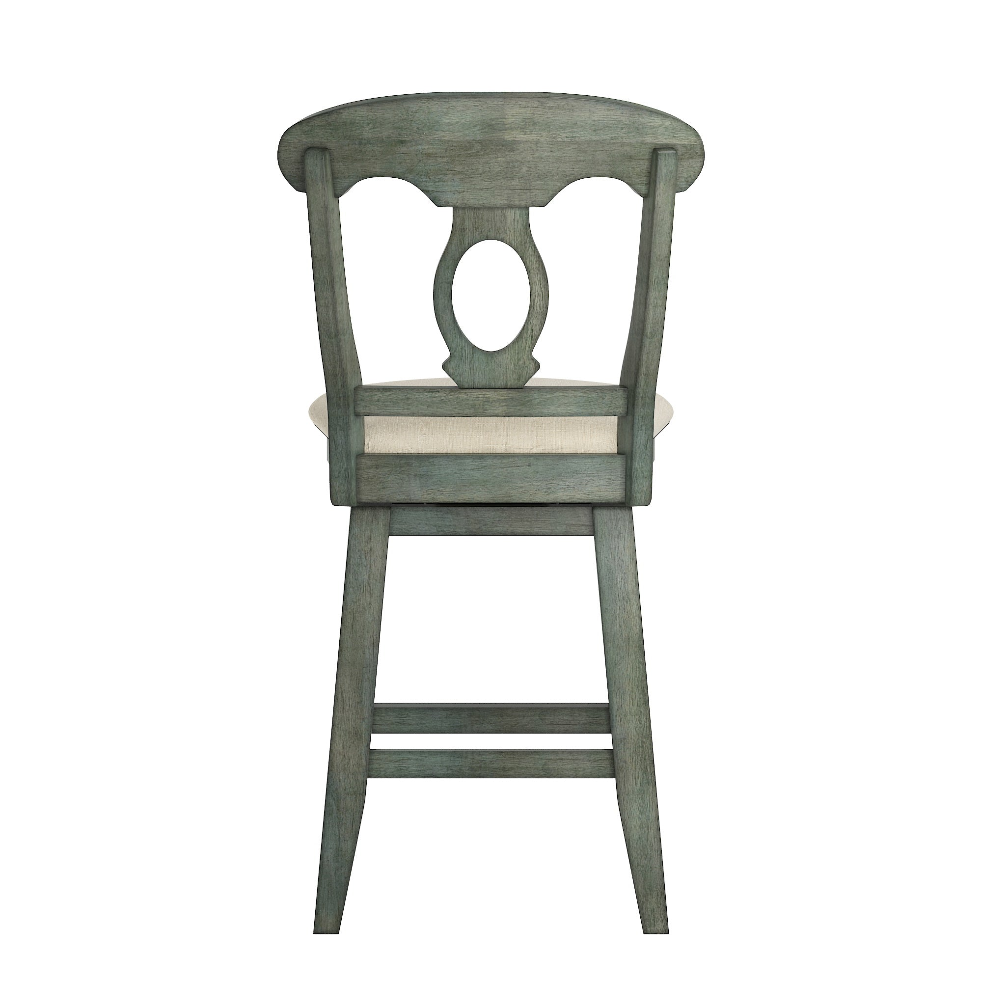 Napoleon Back Counter Height Wood Swivel Chair - Antique Sage