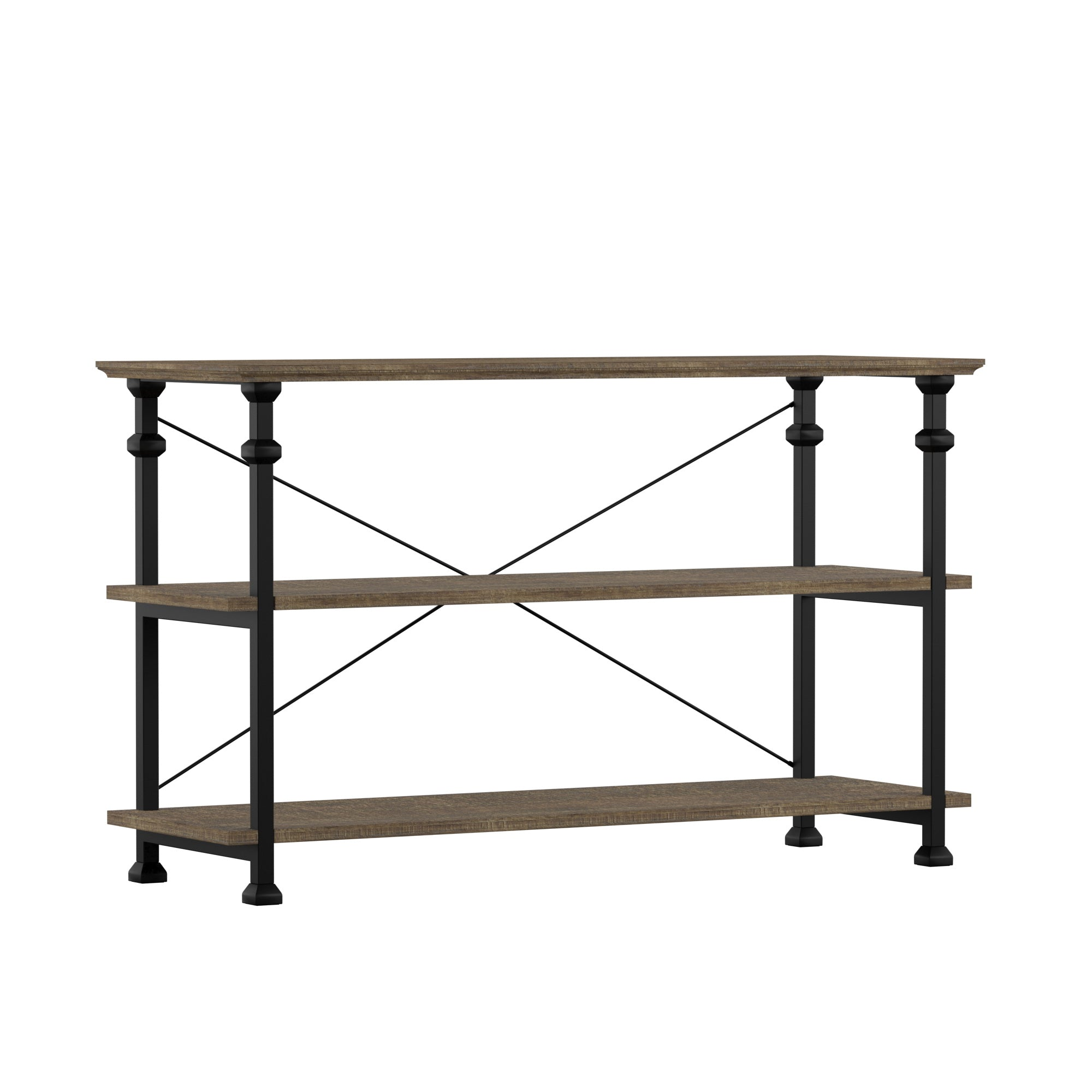 Vintage Industrial TV Stand - Brown Finish