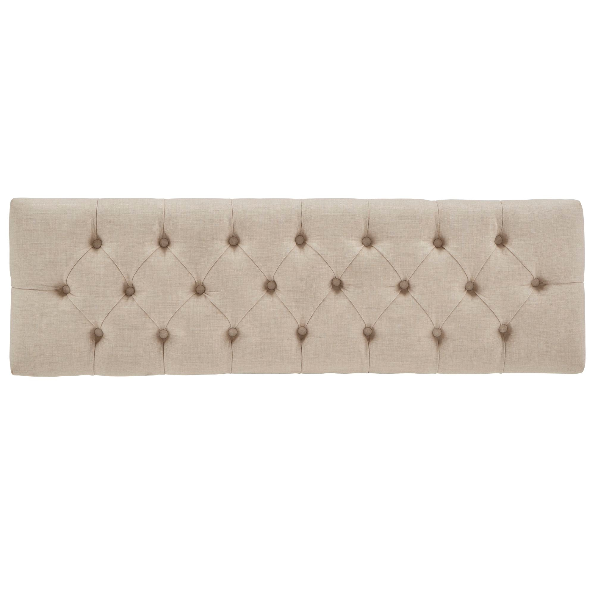 Premium Tufted Reclaimed 52-inch Upholstered Bench - Beige Linen
