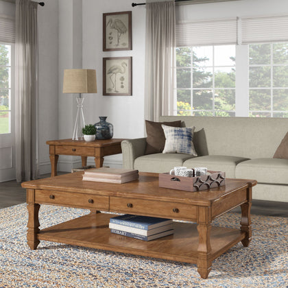 Coffee Table or Table Set with Shelf and Drawer