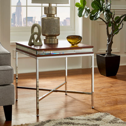 Mirror Trim End Table