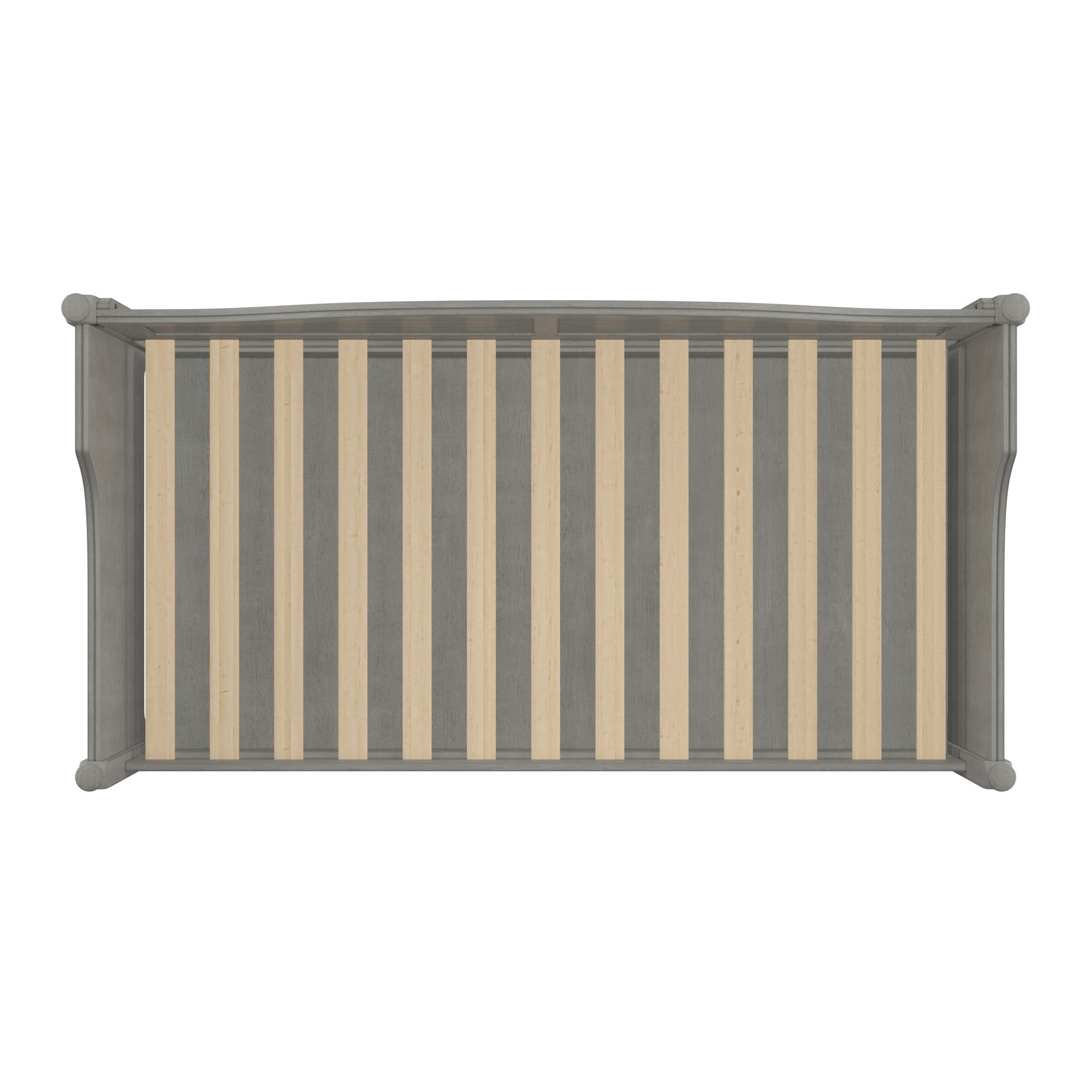 Traditional Paneled Wood Daybed - Antique Grey, No Trundle