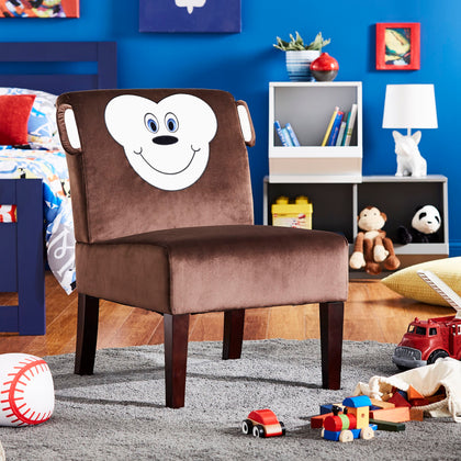 Velvet Animal Accent Chair - Monkey