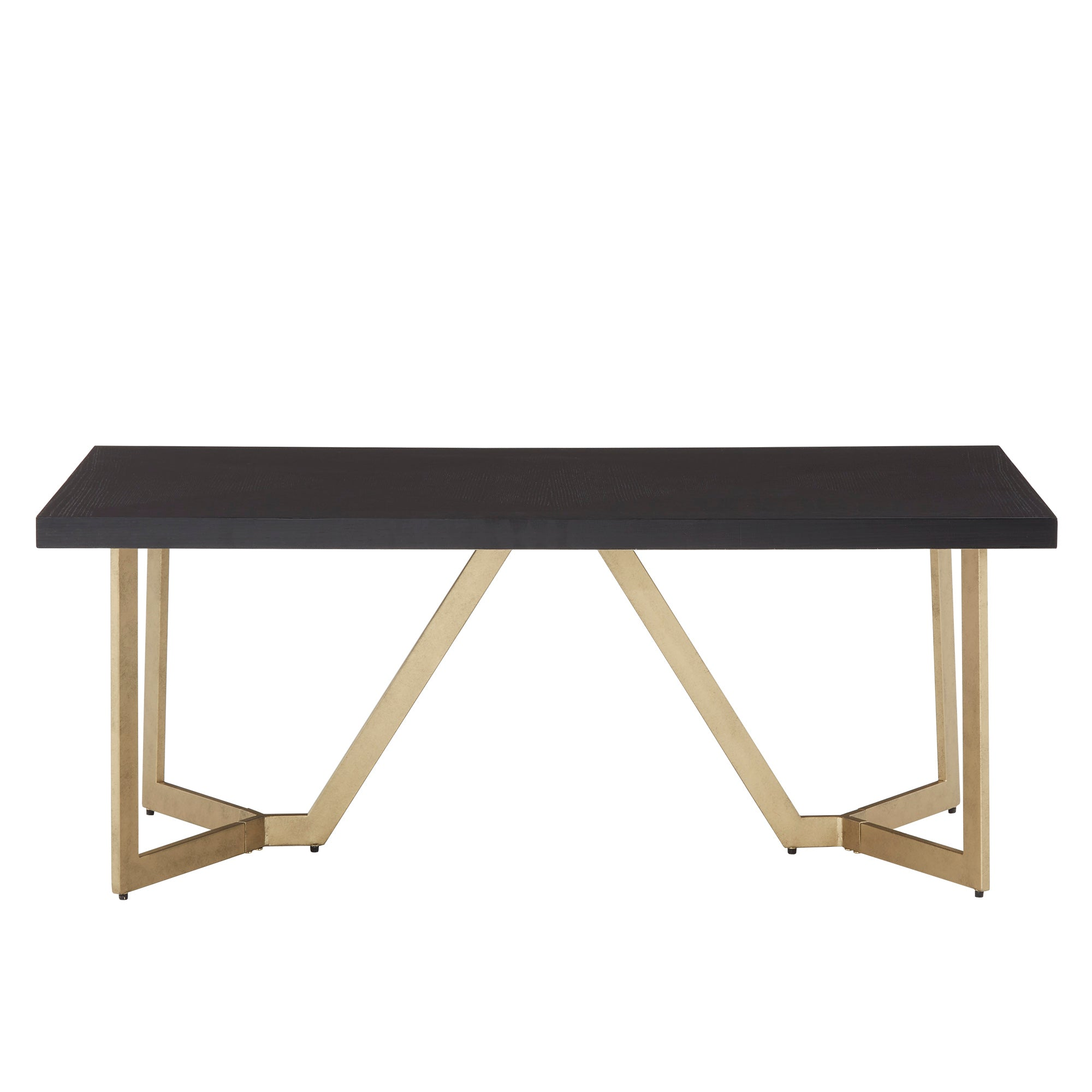 Black and Gold Metal Base Table Set