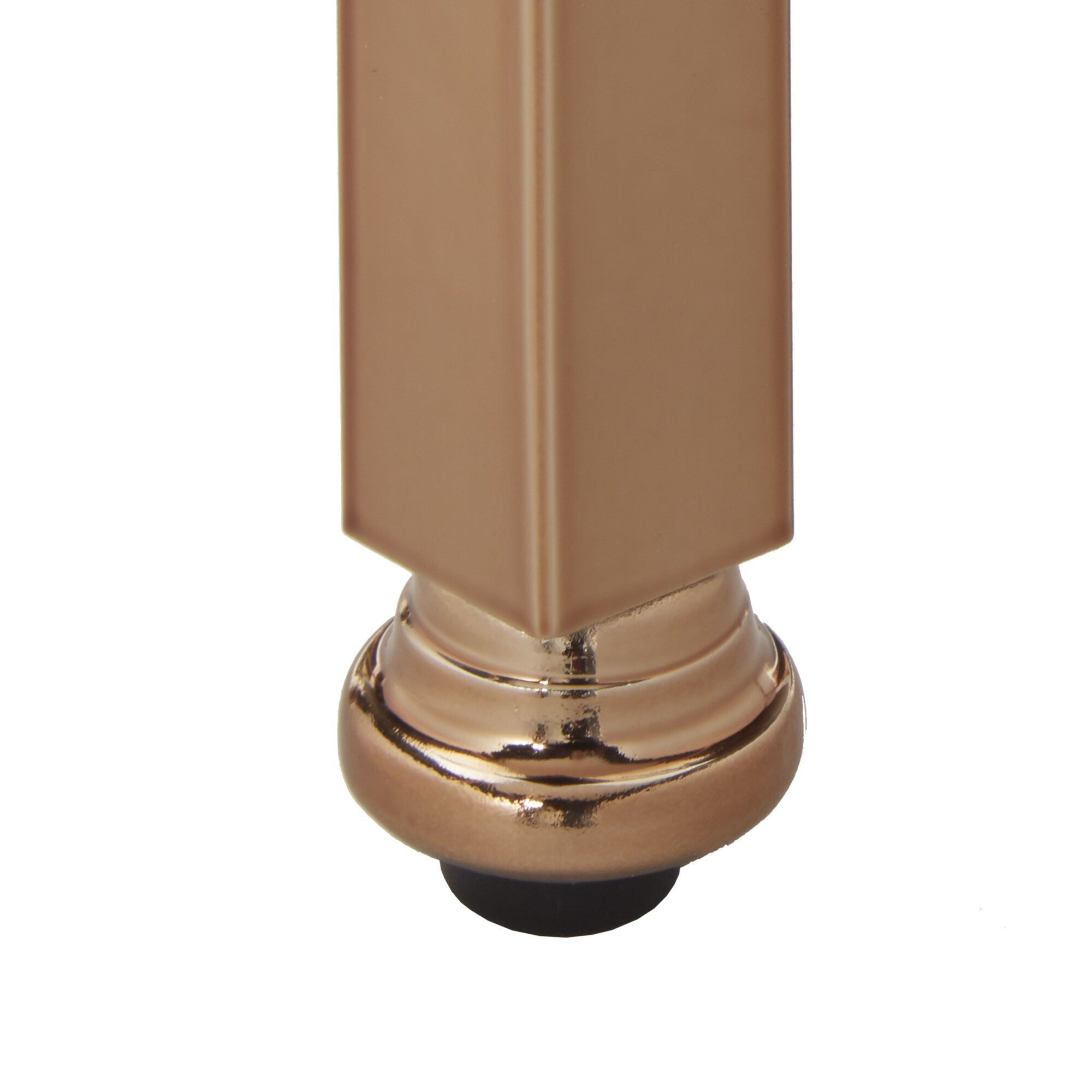 Mirror Trim End Table - Champagne Gold