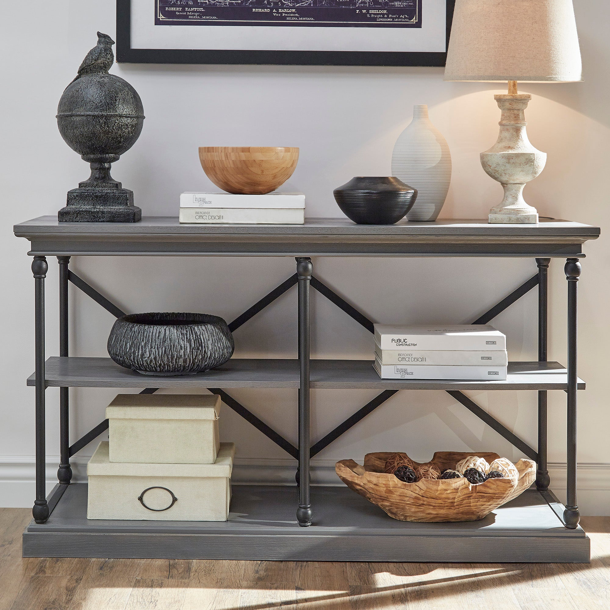 Cornice Drawers Media TV Stand Console