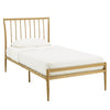 Gold Finish Metal Bed - Twin (Twin Size)