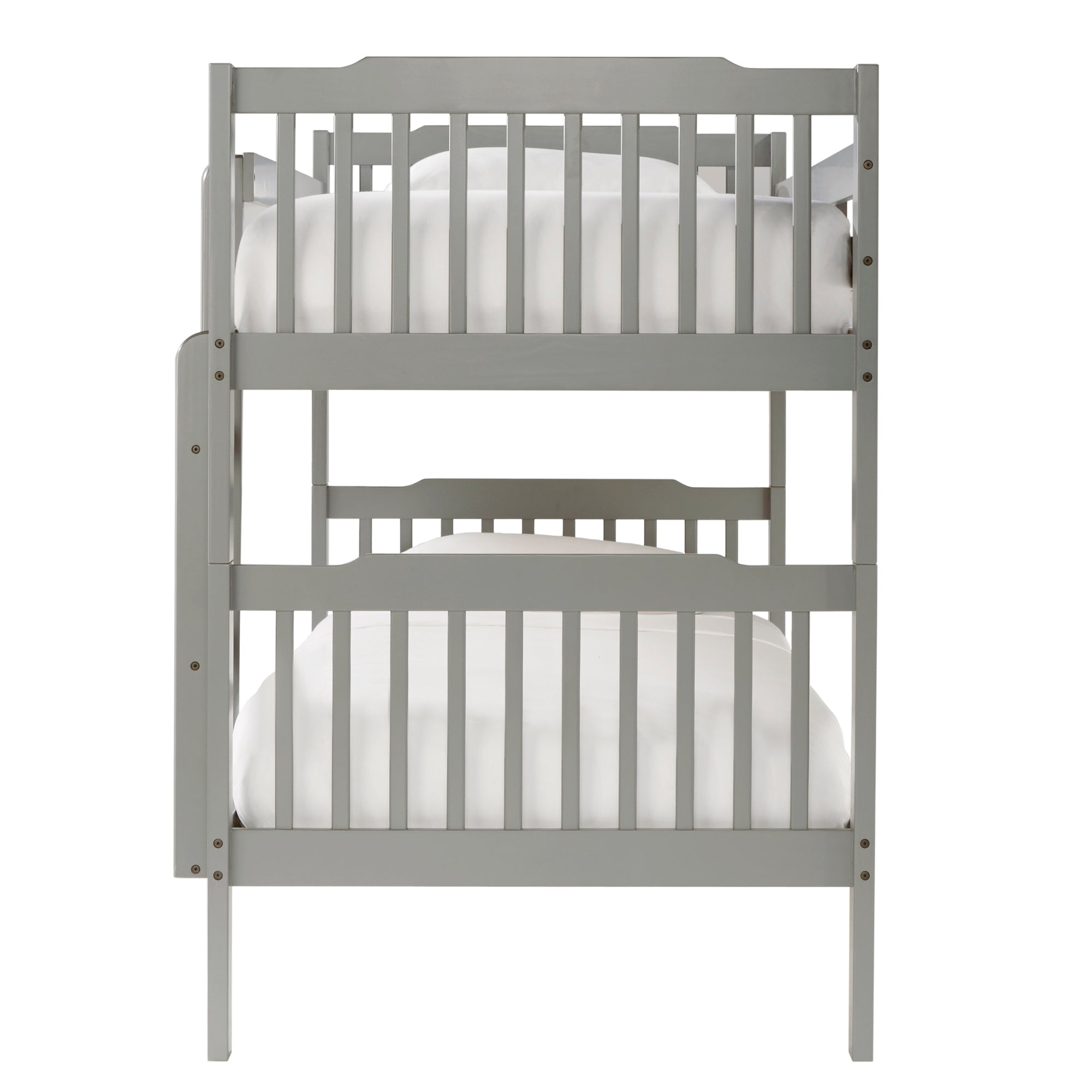Twin over Twin Bunk Bed - Grey