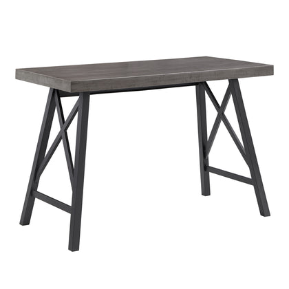 Rustic X-Base Desk - Grey Finish