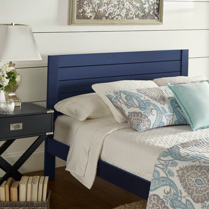 Horizontal Panel Platform Bed - Twilight Blue, Queen