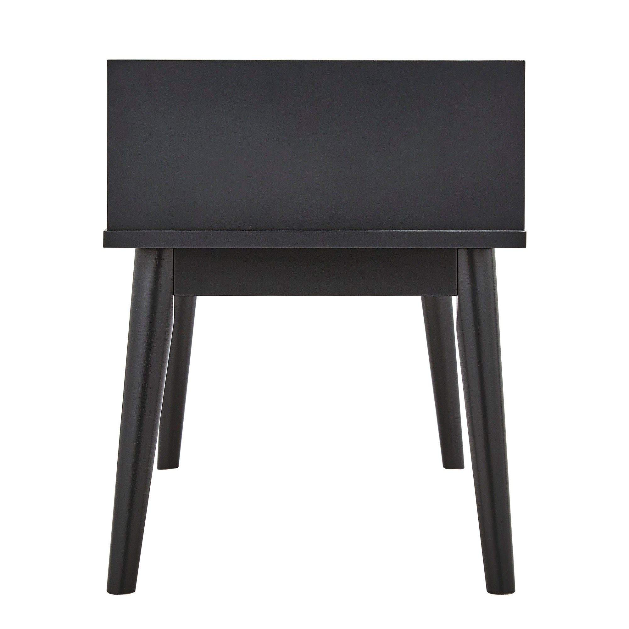 1-Drawer Cushioned Entryway Bench - Vulcan Black