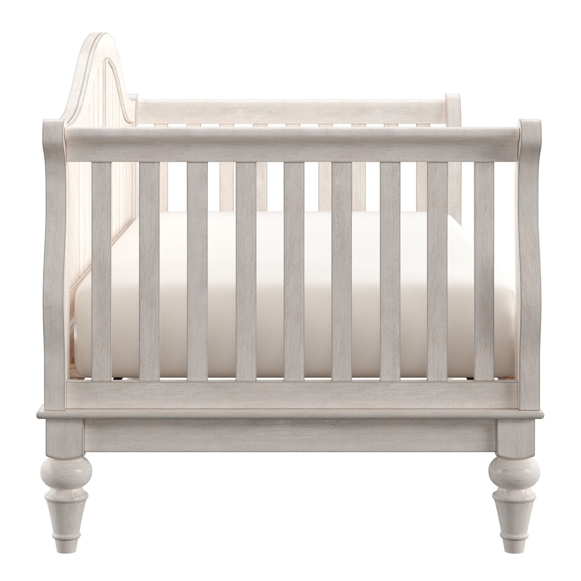 Traditional Wood Slat Daybed - Antique White, No Trundle