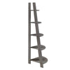 Corner Ladder Bookcase - Frost Grey