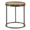 Grey Oak Finish Round Nesting End Table