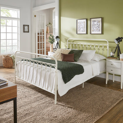 Metal Arches Platform Bed - White - Queen