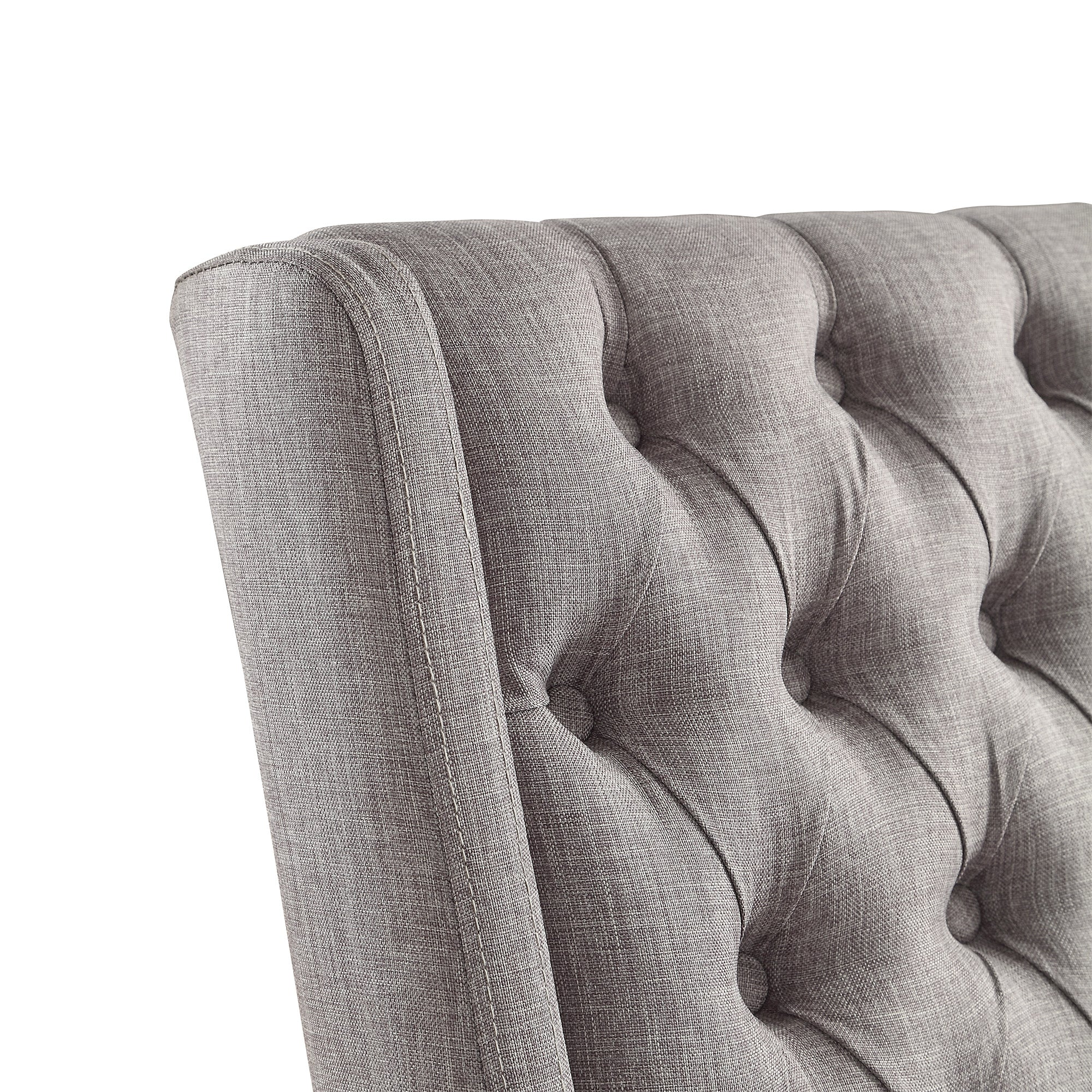 Tufted Wingback Hostess Chair (Set of 2) - Grey Color Finish