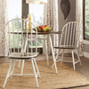 Two-Tone Spindle Windsor Dining Chairs (Set of 4) - White Frame