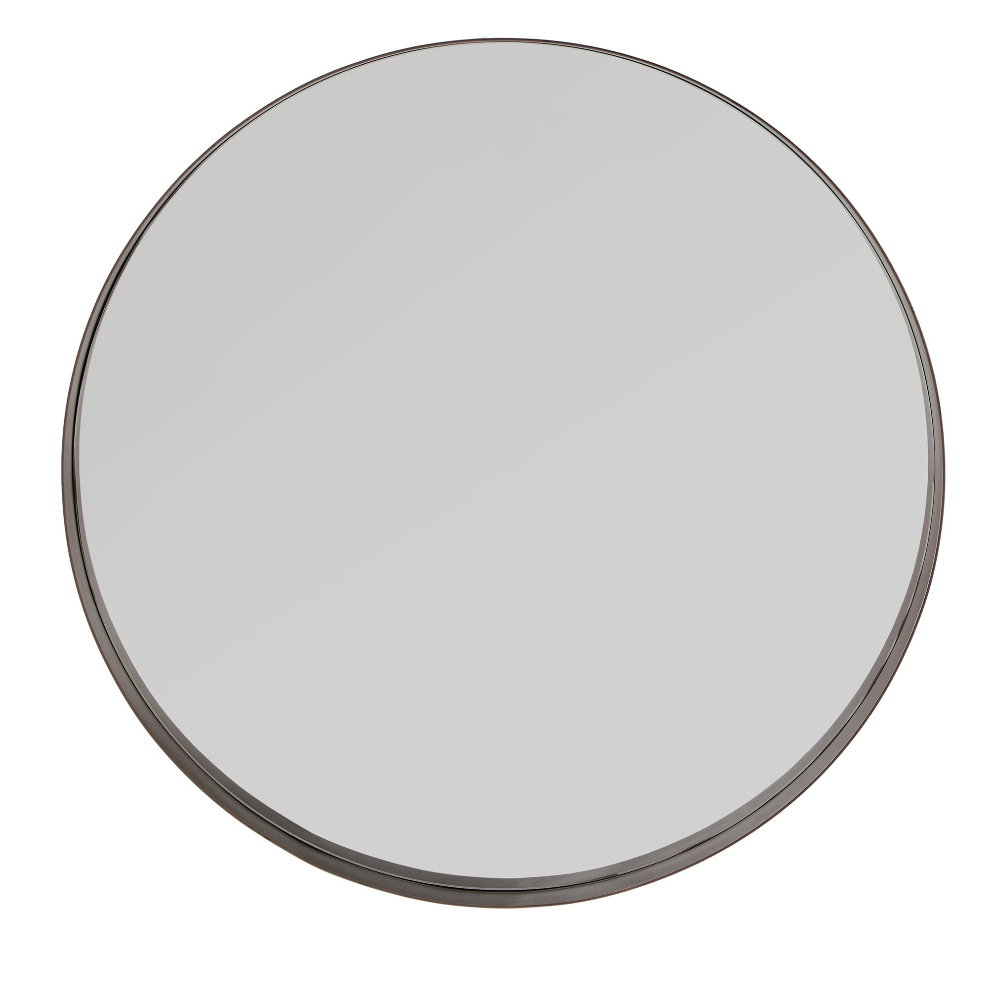 Ledge Round Wall Mirror - Bronze Finish