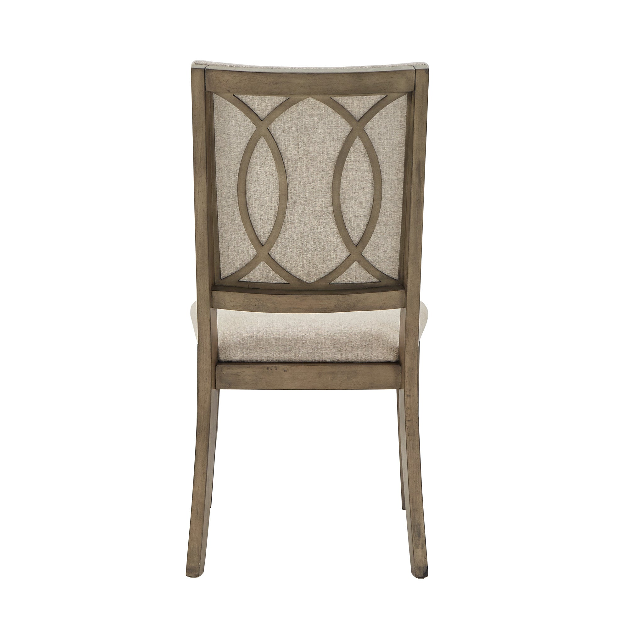 Antique Beige Fabric Dining Chairs (Set of 2)