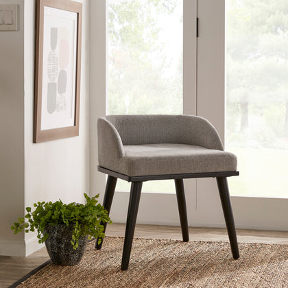 Grey Heathered Dining Chair