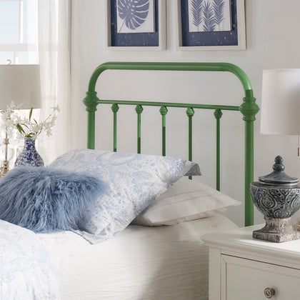 Modern Metal Bed - Meadow Green - Twin Size