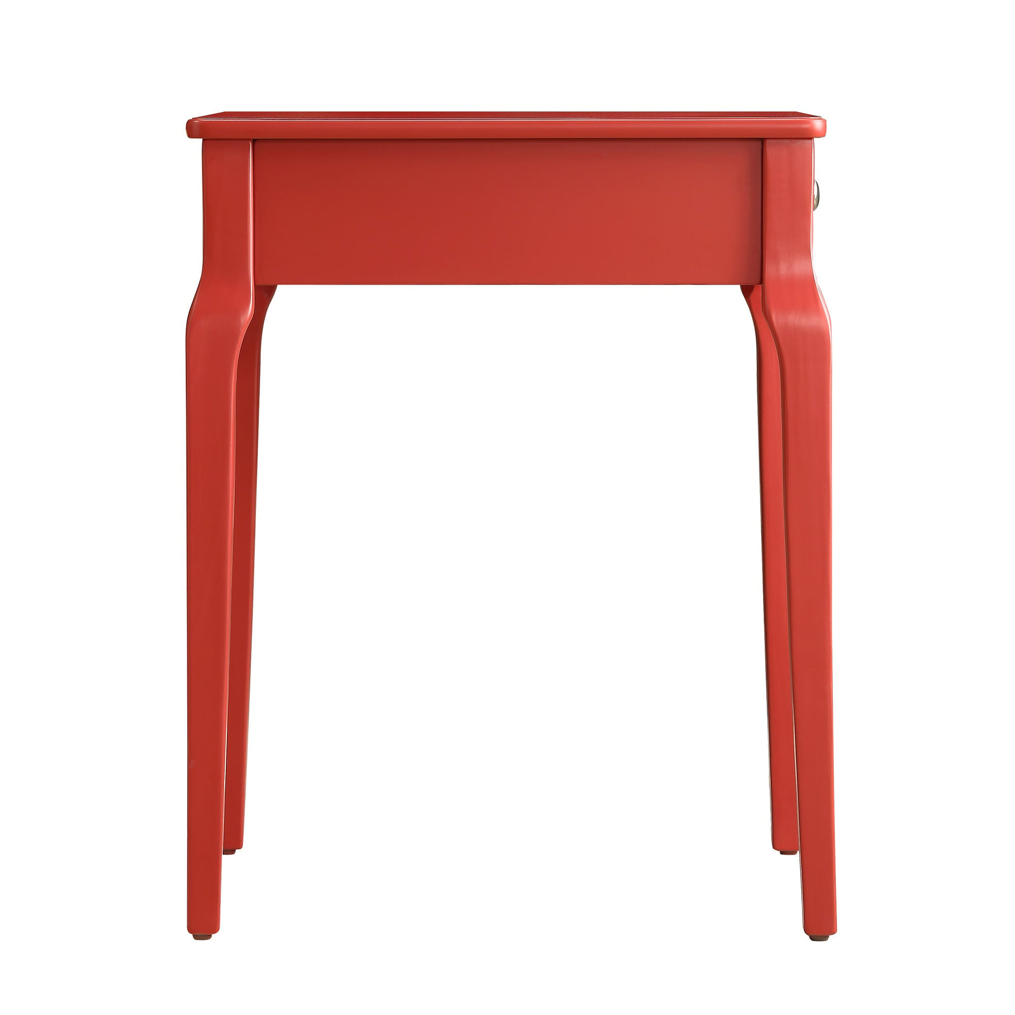1-Drawer Storage Side Table - Red