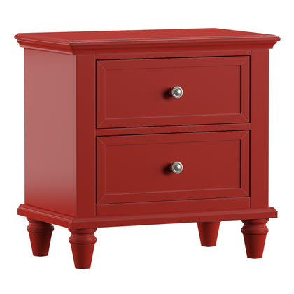 2-Drawer Side Table Nightstand