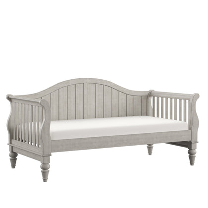 Traditional Wood Slat Daybed - Antique Grey, No Trundle