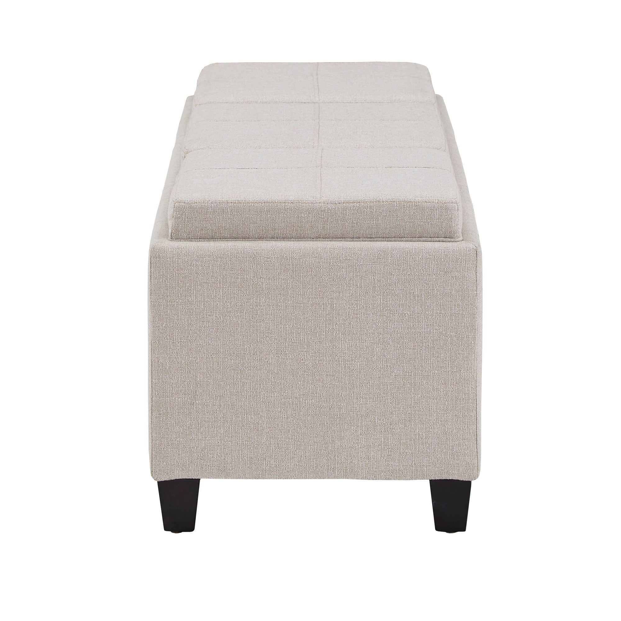 Heathered Weave Storage Bench with Trays
