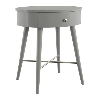 Frost Grey Oval Accent Table