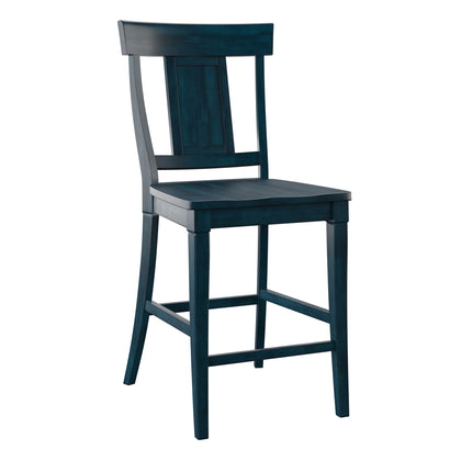 Panel Back Wood Dining Chair (Set of 2)