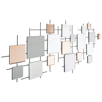 Multiple Square Decorative Wall Mirror
