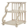 Scroll End Table - Antique White finish