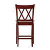 Antique Berry Red Double X-Back Counter Height Chair (Set of 2)