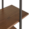 X-Back Metal Post Bookshelf with Walnut Finish