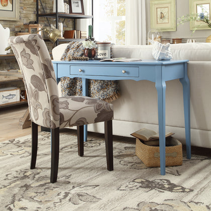 1-Drawer Wood Writing Desk - Heritage Blue