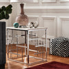 Chrome Finish and White Faux Marble Top End Table
