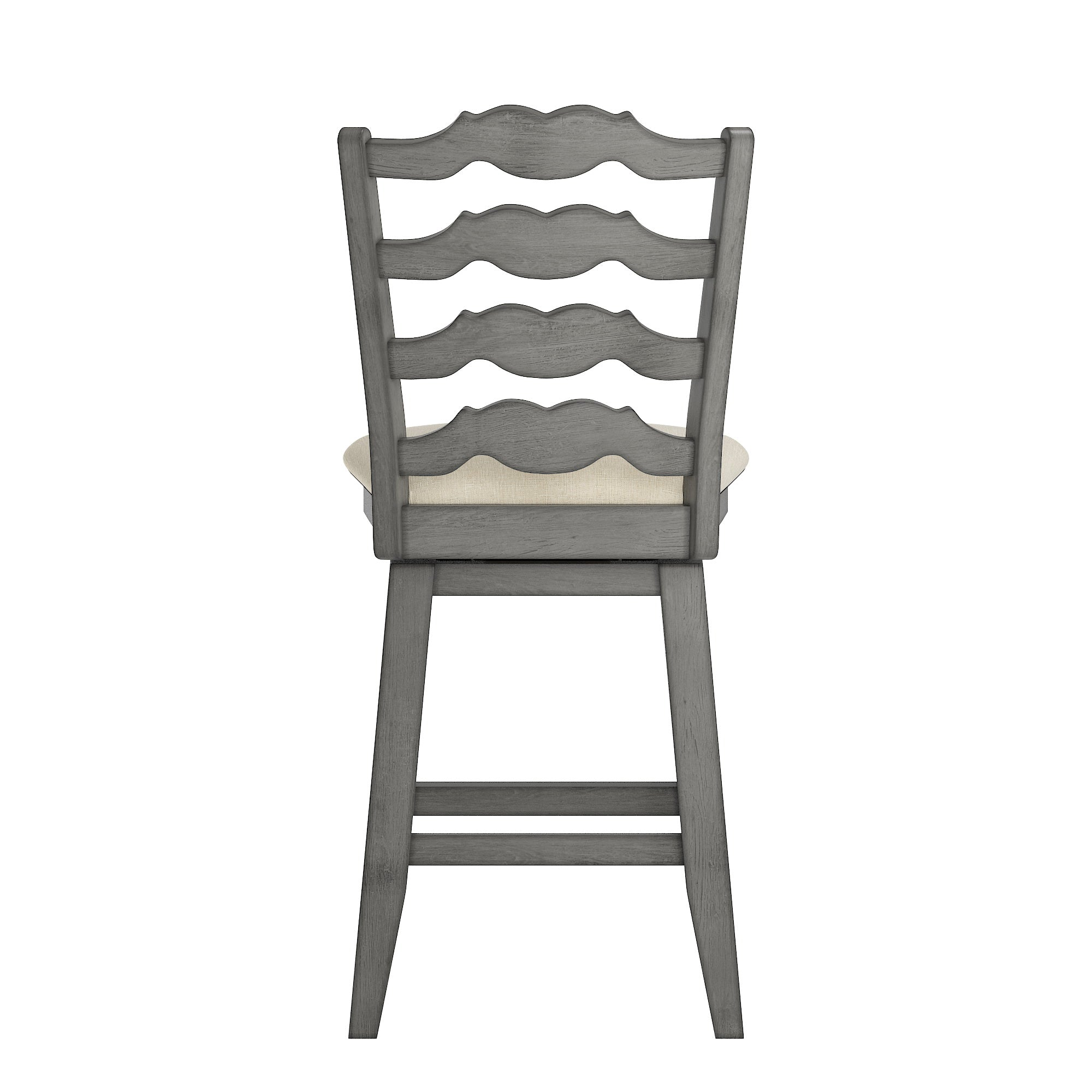 French Ladder Back Counter Height Swivel Chair - Antique Grey
