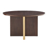 Espresso 54-inch Round Dining Table