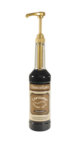 Leramo Chocolate syrup, with pump.