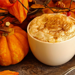 A sweet & creamy coffee drink with the flavor of Pumpkin Spice.