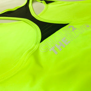 Neon Yellow Just Dont Quit Mesh Racer Back