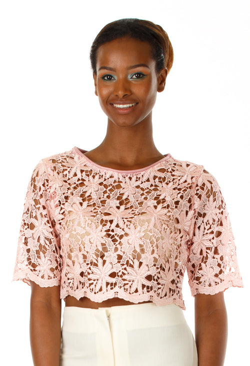 Theory Lace Crop Top