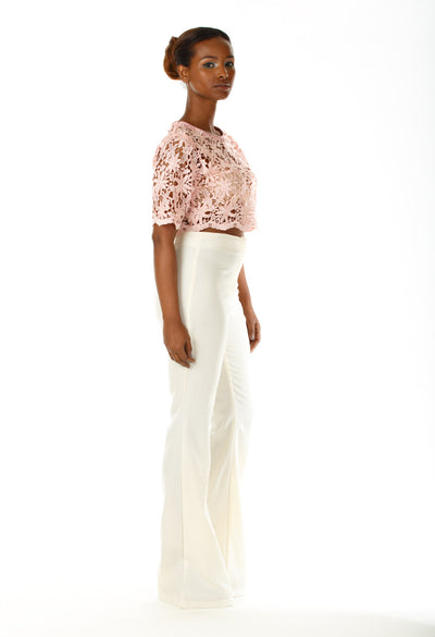 Theory Lace Crop Top - Angelica Timas