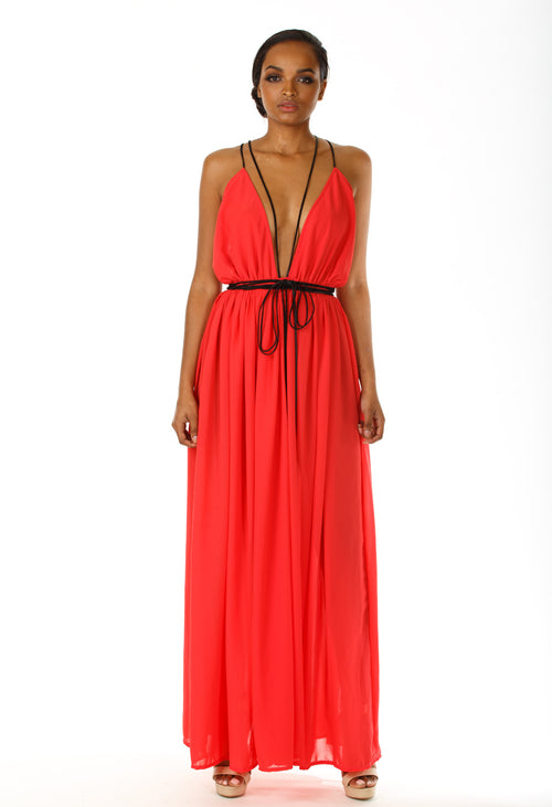 Eileen Chiffon Maxi Dress