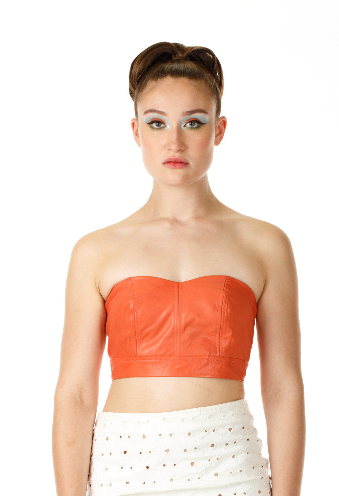 Savanah Bralette Leather Top