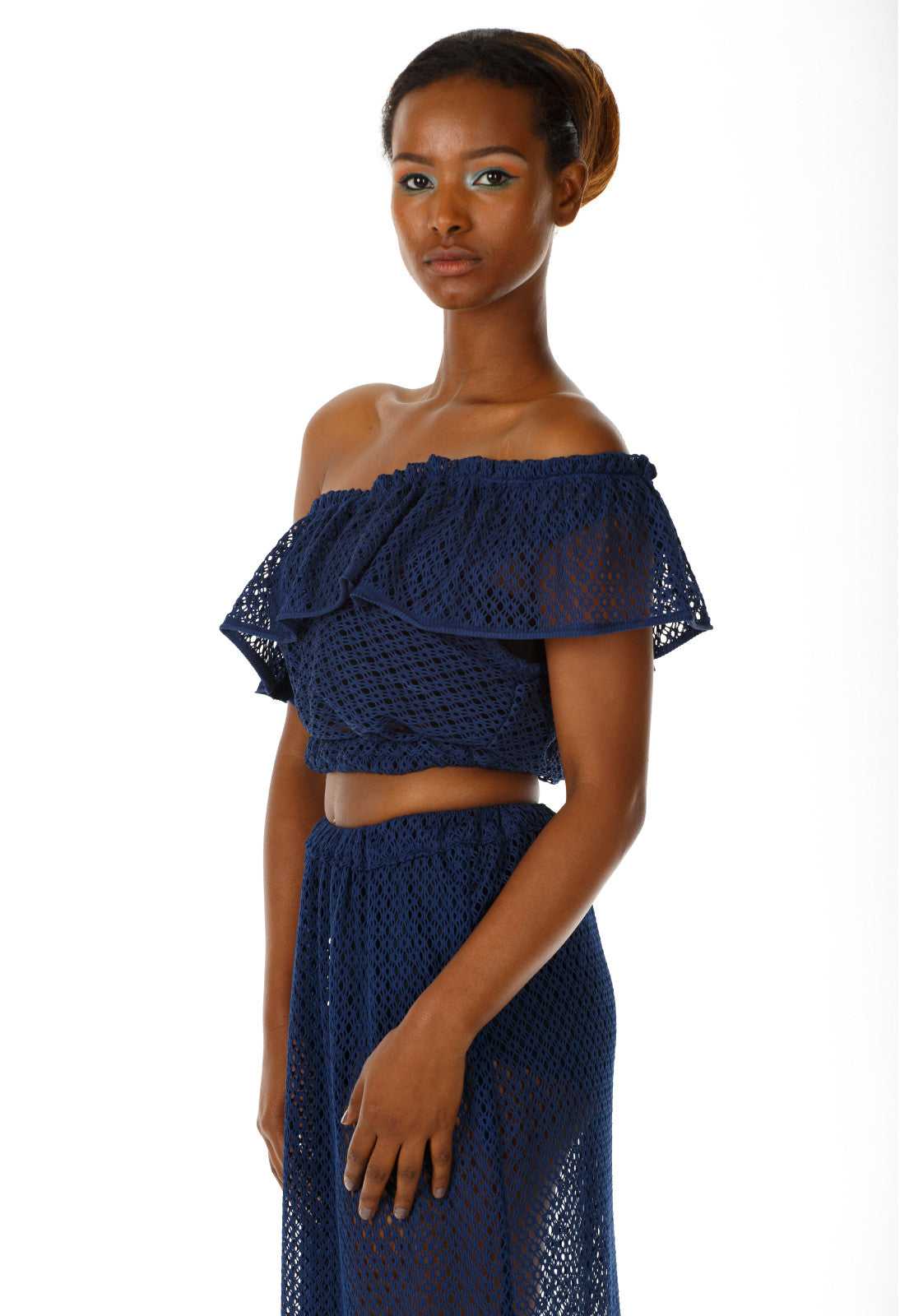 Frieda off the shoulder crop top - Angelica Timas