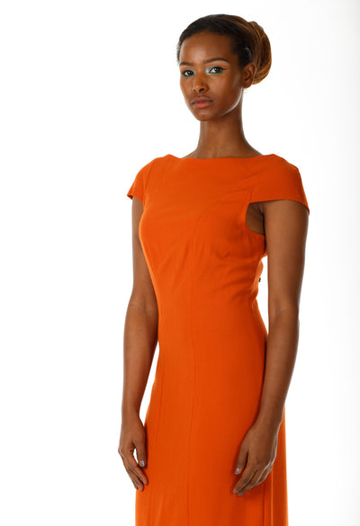 Boatneck Cap Sleeve Dress - Angelica Timas