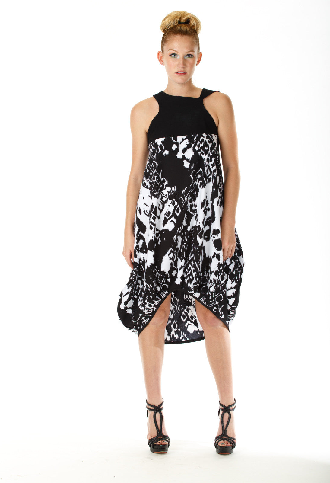 Midi Baloon Print Dress - Angelica Timas